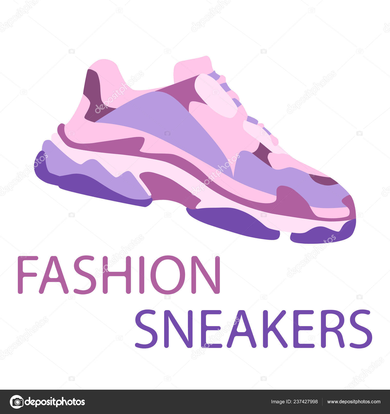 Concepto Vector Plano Ilustración Zapatilla Zapato Deporte Diseño iOukPXZ