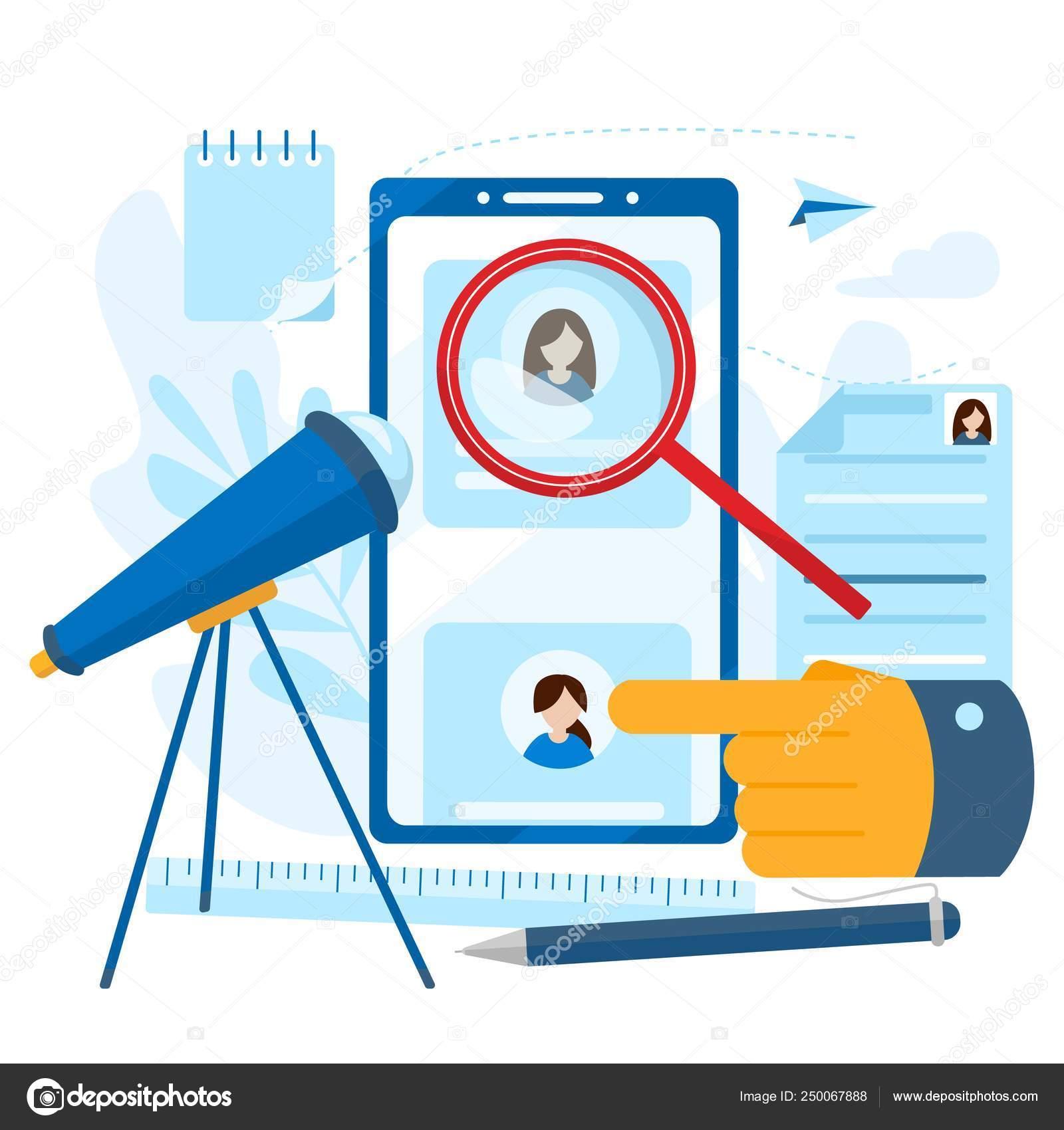 cbd745b01f3 Archivo personal del empleado. Concepto de recursos humanos, elección,  carrera, empleo, CV, búsqueda de empleo, habilidad profesional. Moderno  concepto de ...