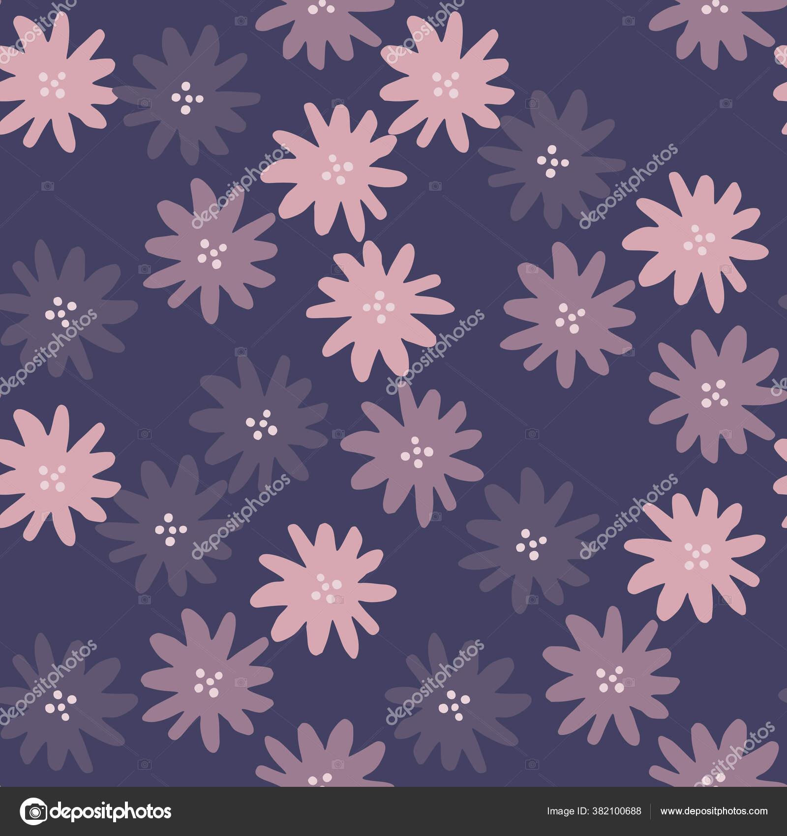 depositphotos 382100688 stock illustration abstract daisies flowers seamless pattern
