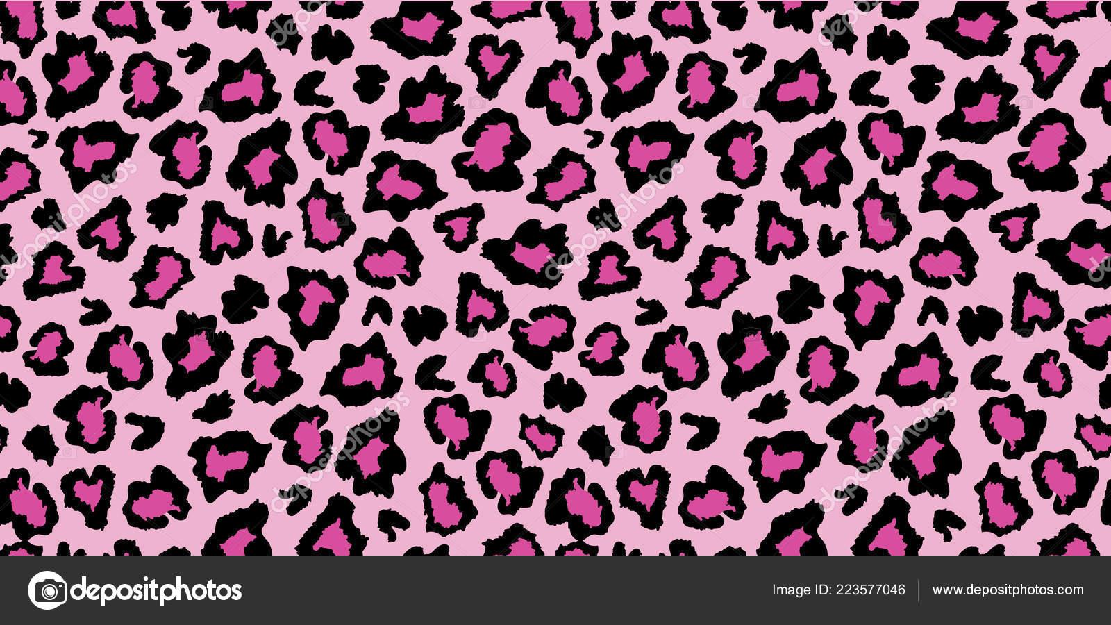 Foto Leopardato Rosa E Nero Modello Di Stampa Leopardo Rosa E