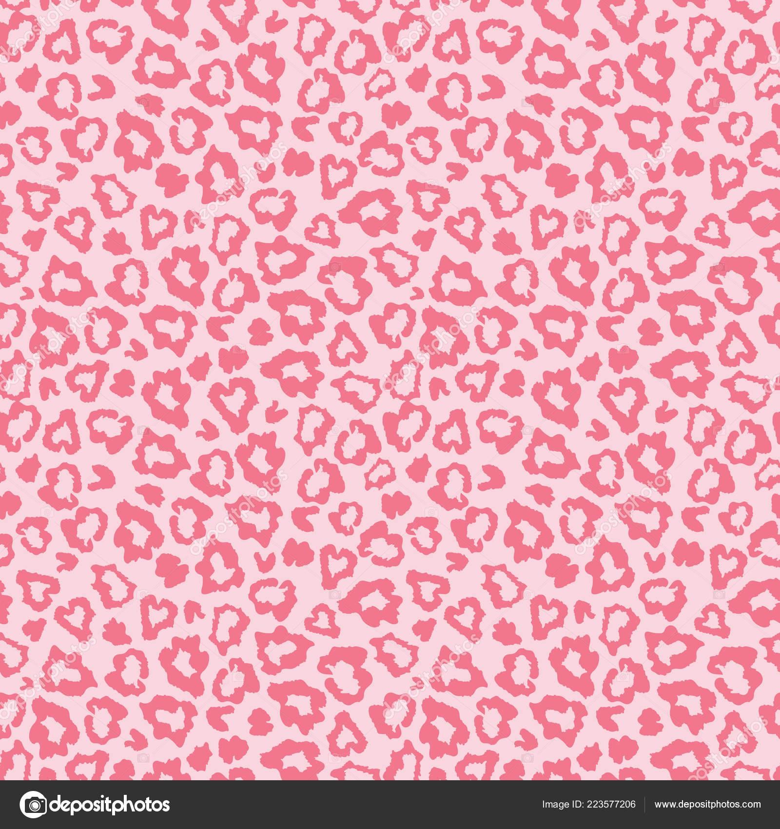 Modello Di Stampa Leopardo Rosa Pelle Pelliccia Vettoriali Stock