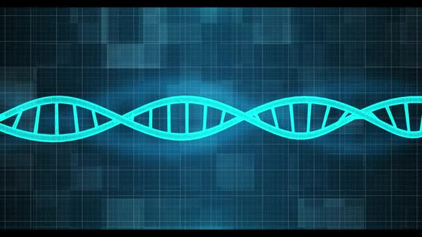 Digital DNA computer screen background animation. 4K Motion Graphics background.