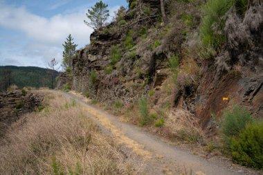 Camino de Santiago trail between Pola de Allande and Grandas de Salime, Asturias, Spain