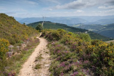 Panoramic landscape along the Camino de Santiago trail between Grandas de Salime and Fonsagrada, Asturias, Spain