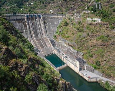 GRANDAS DE SALIME, SPAIN - AUGUST 24, 2018: Green Energy, hydroelectric power plant of Grandas de Salime on August 24, 2018 in Asturias, Spain