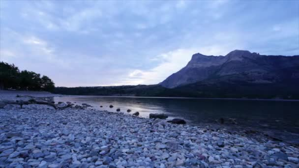 Waterton Lake at sunrise, Waterton Lakes National Park, Alberta, Canada