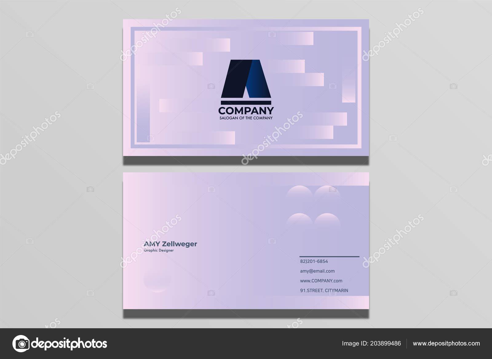 Visitenkarten Design Einfach Und Modern Stockvektor