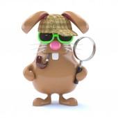 3D činí z králíka, oblečený jako Sherlock Holmes
