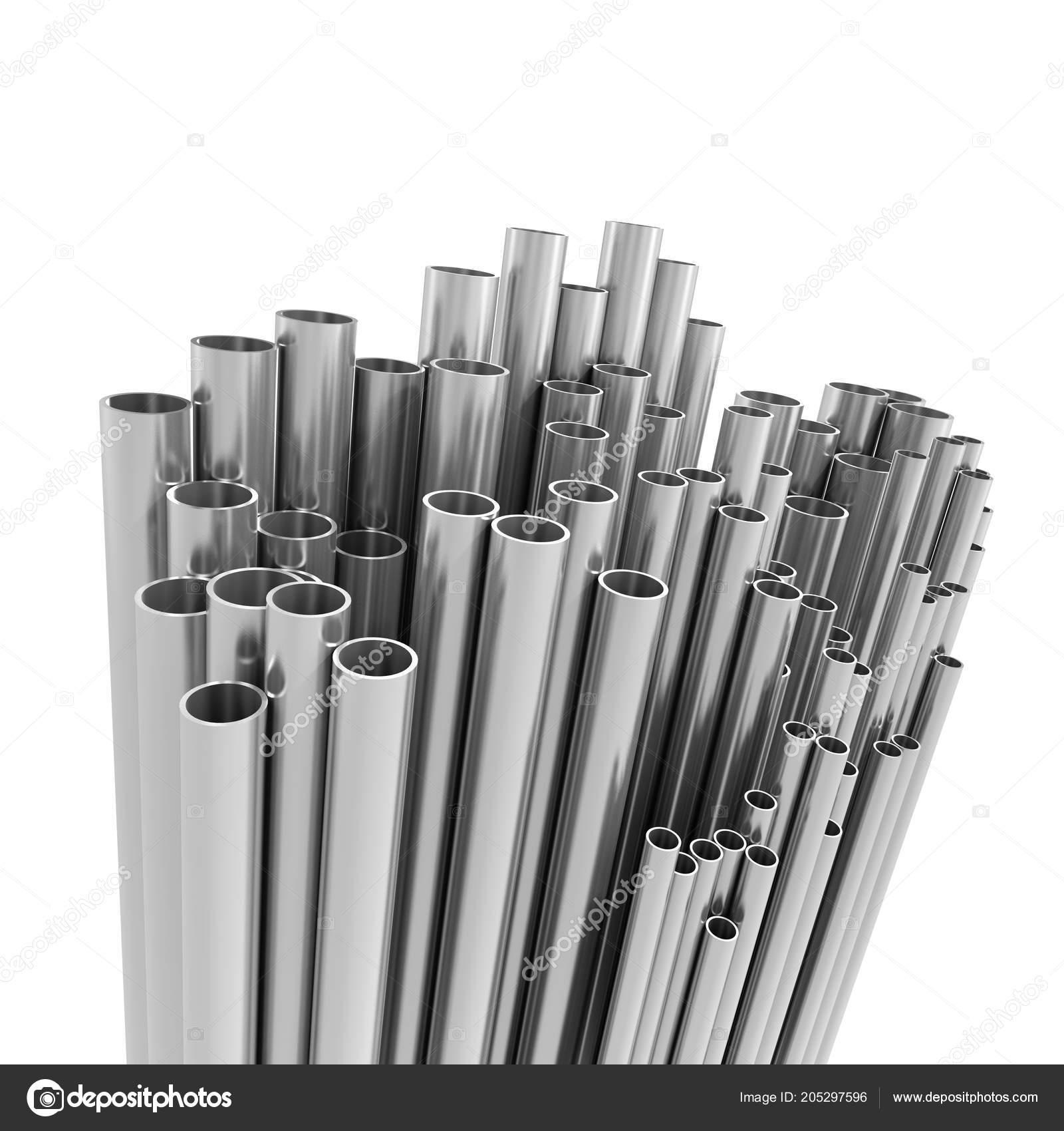 Render Variety Metal Pipes — Stock Photo © 3dalia #205297596