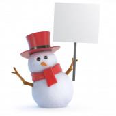 3D Posh hóember plakát