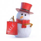 3D prodejní taška ze snowmana
