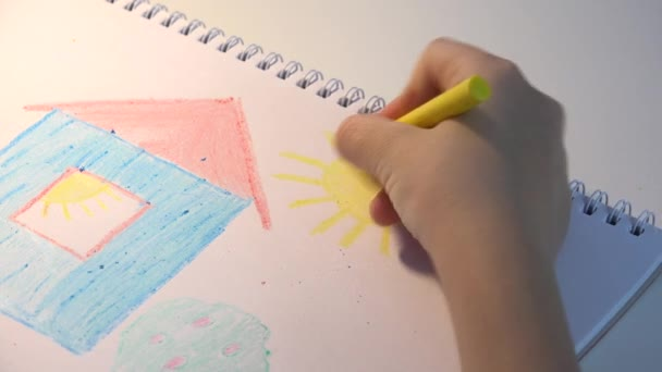 Child Drawing House Girl Coloring Kids Making Craft Children