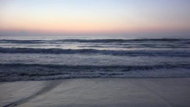 Sunset Beach, alba in riva al mare, oceano al tramonto in estate, Twilight Seascape