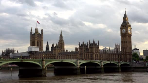 Big ben London, forgalom a Westminster-híd, Red Double Decker buszok