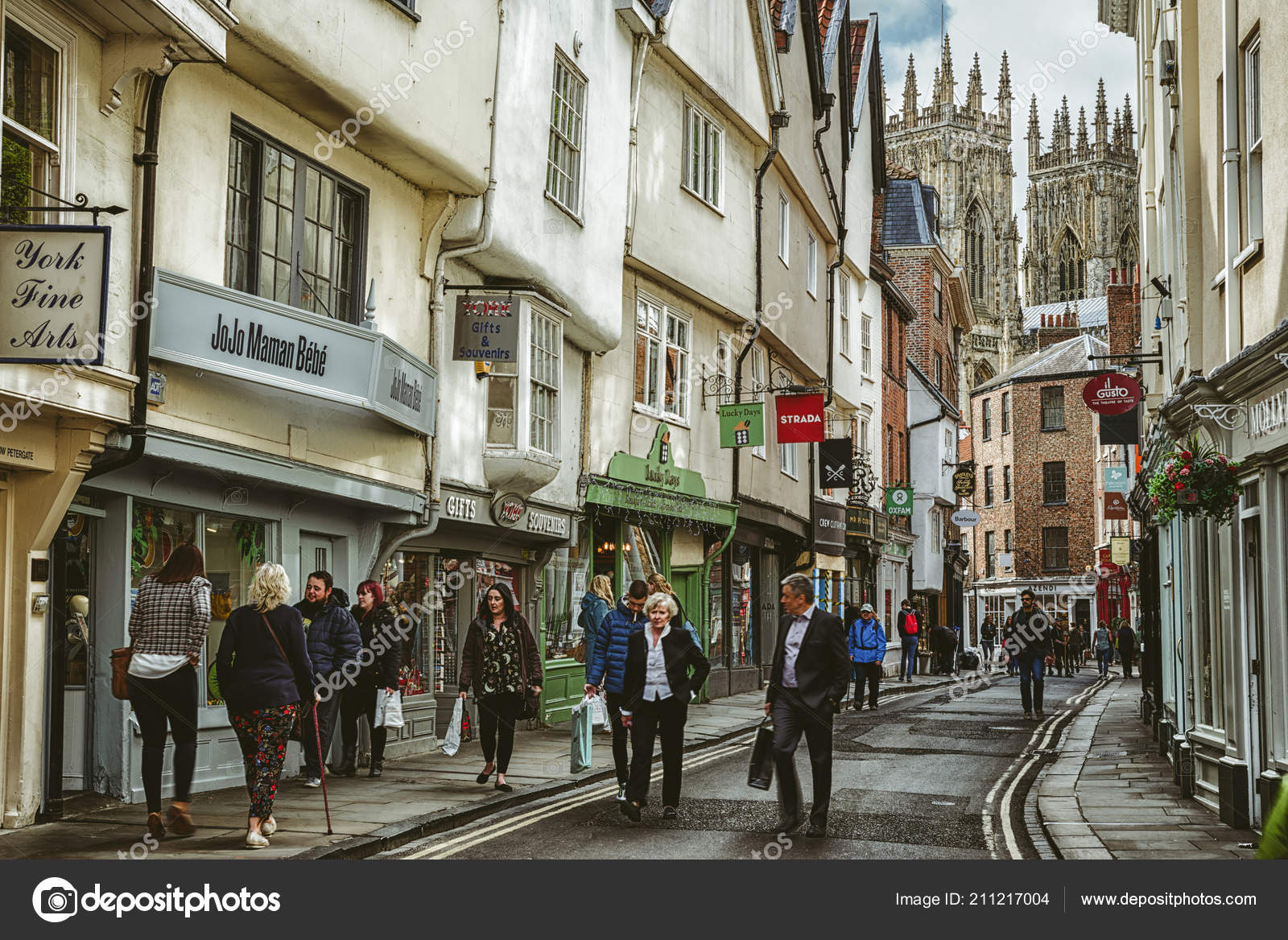 york england may centre city york full people may 2018 stock