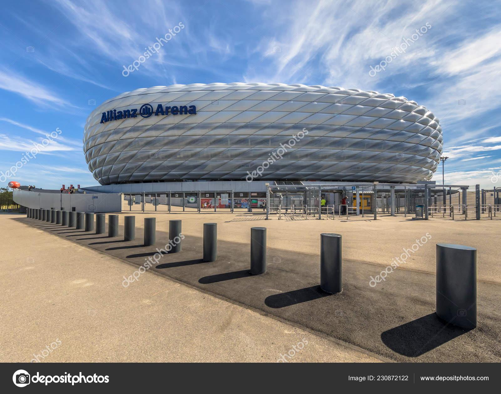 München Deutschland August 2017 Eingang Zur Allianz Arena