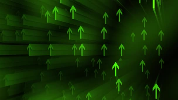 Abstract background with shiny green arrow up motion background.