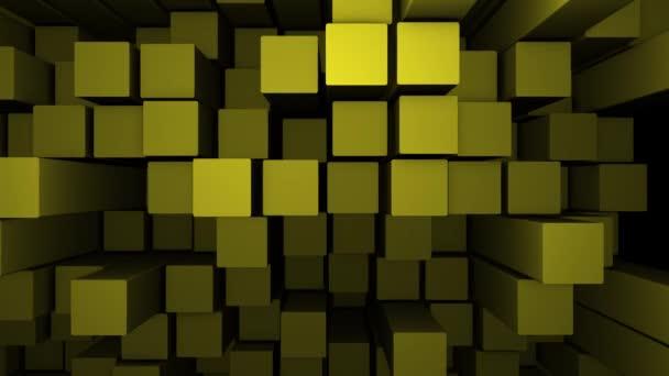 Zlatý čtvercových bloků vzorek pozadí pohybu.