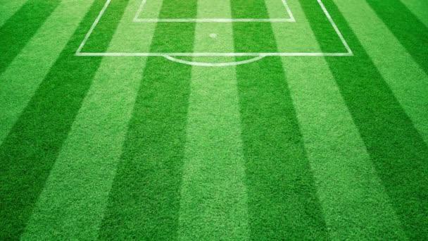 Foci mező fű-, futball-labda gördülő