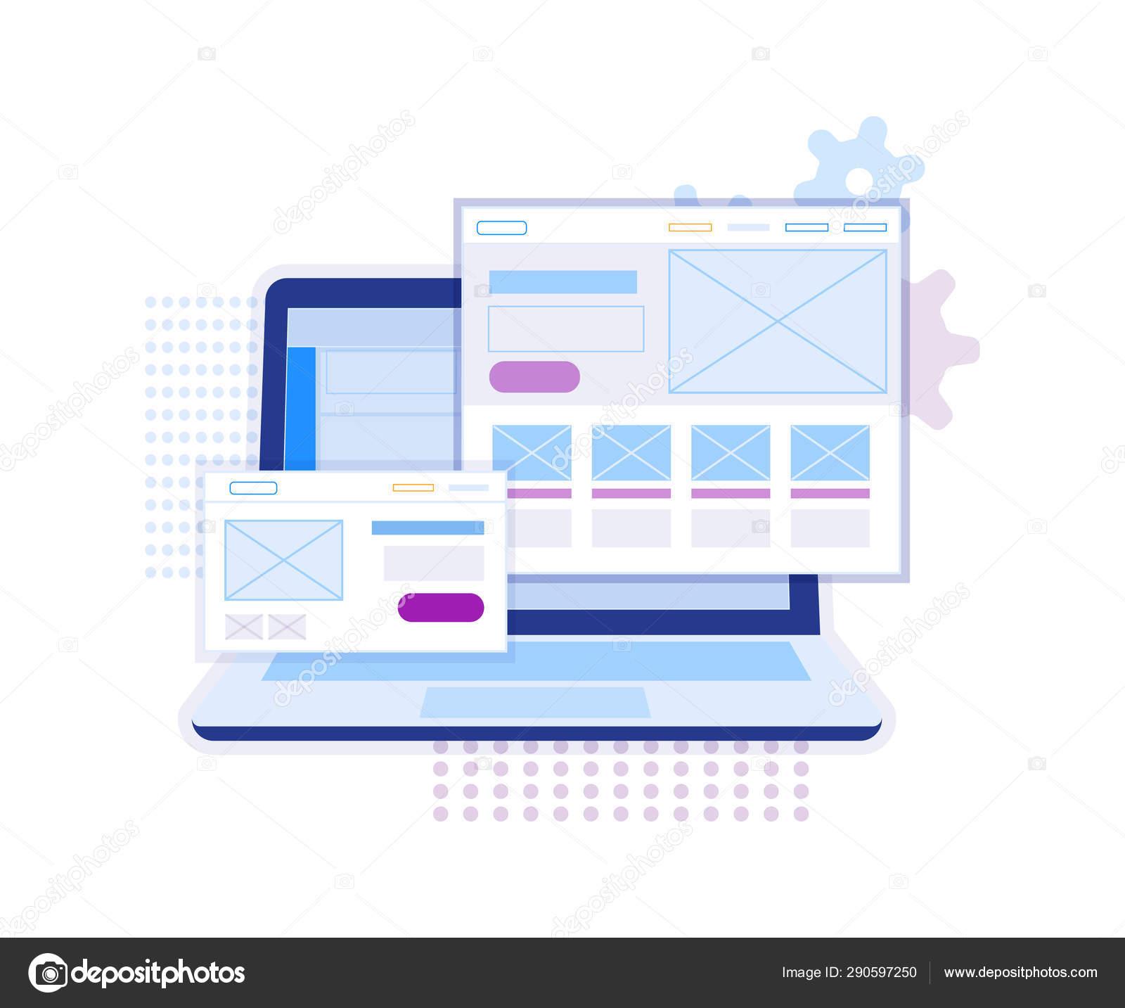 Web design vector website template for UX,UI — Stock Vector