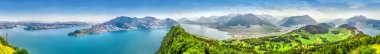 Swiss Alps near Burgenstock with the view of Vierwaldstattersee, Switzerland, Europe.