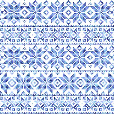 Abstract winter seamless pattern on a white  background