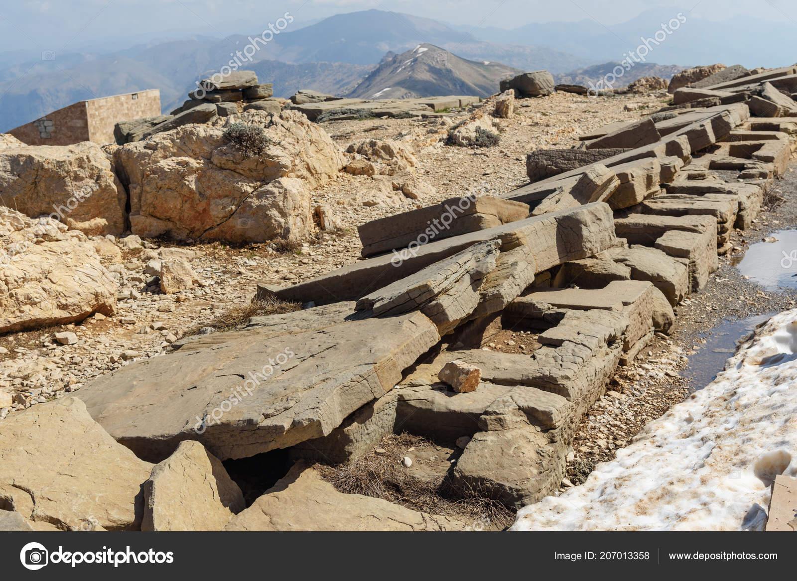 Terraza Del Norte Cima Montaña Nemrut Cabezas Piedra Cima