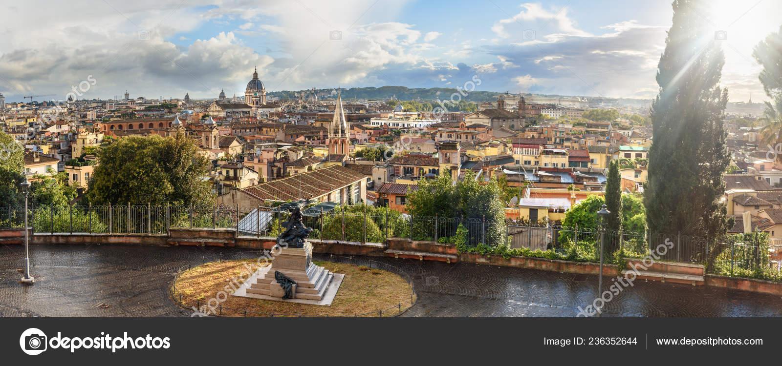 Panorama View Rome City Terrazza Viale Del Belvedere Italy