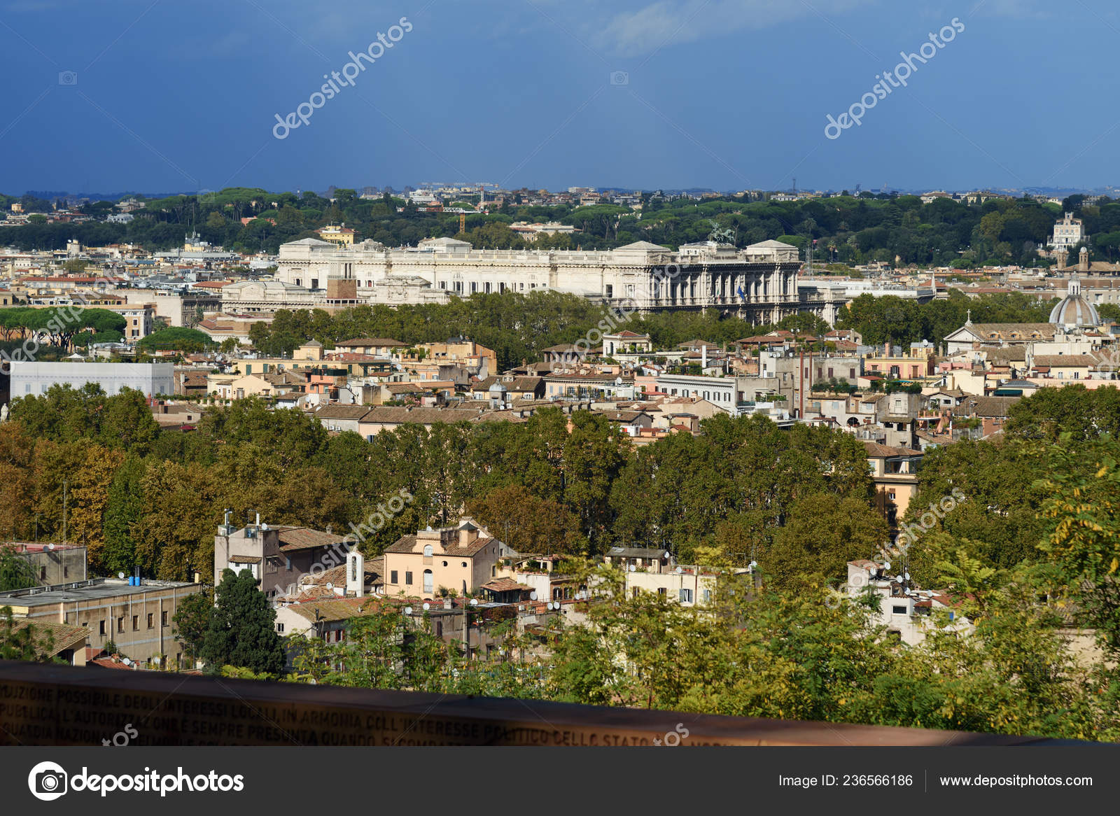 Rome Italy October 2018 Arial View Rome City Janiculum Hill