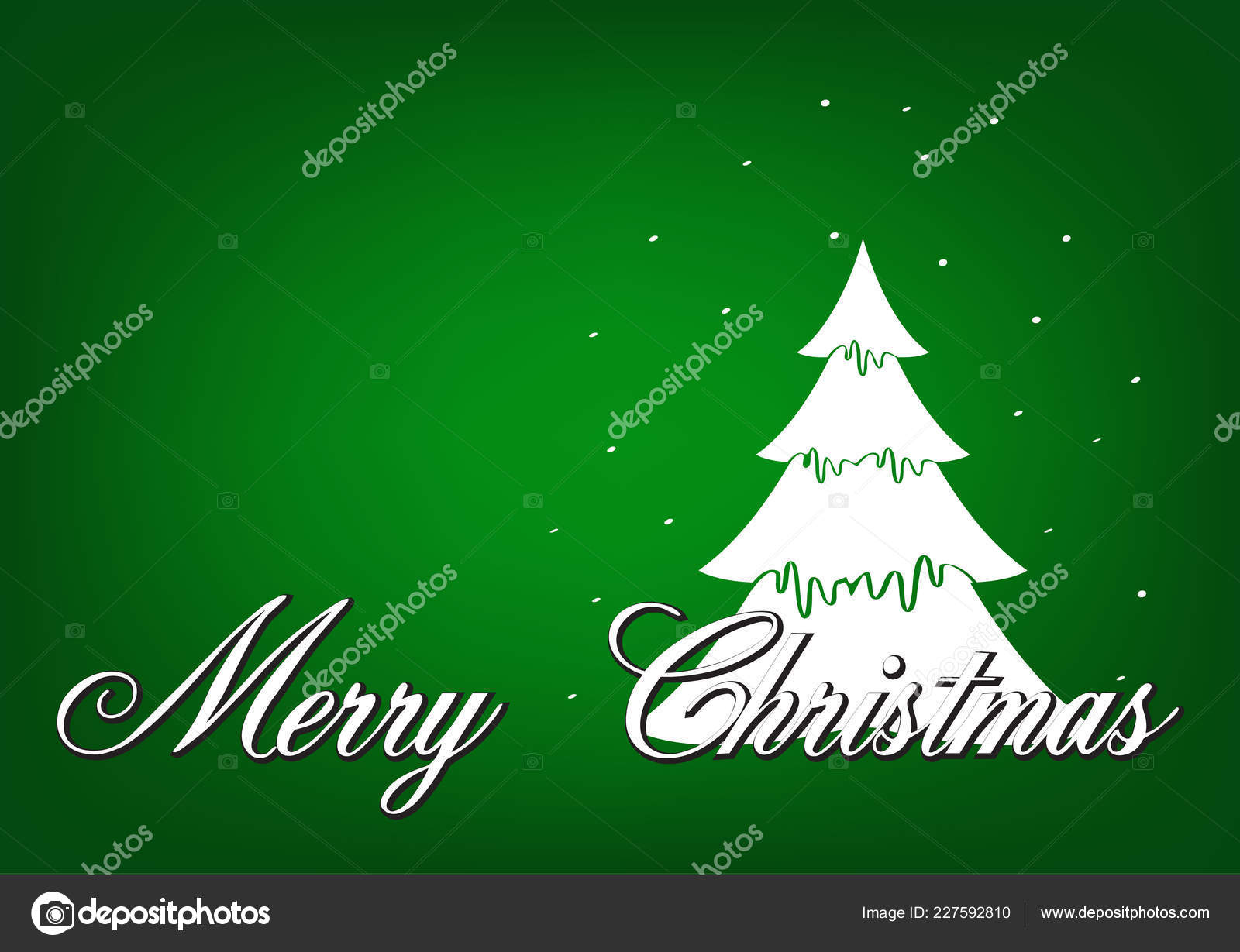 Merry Christmas Happy New Year Christmas Cards Simple Design — Stock ...