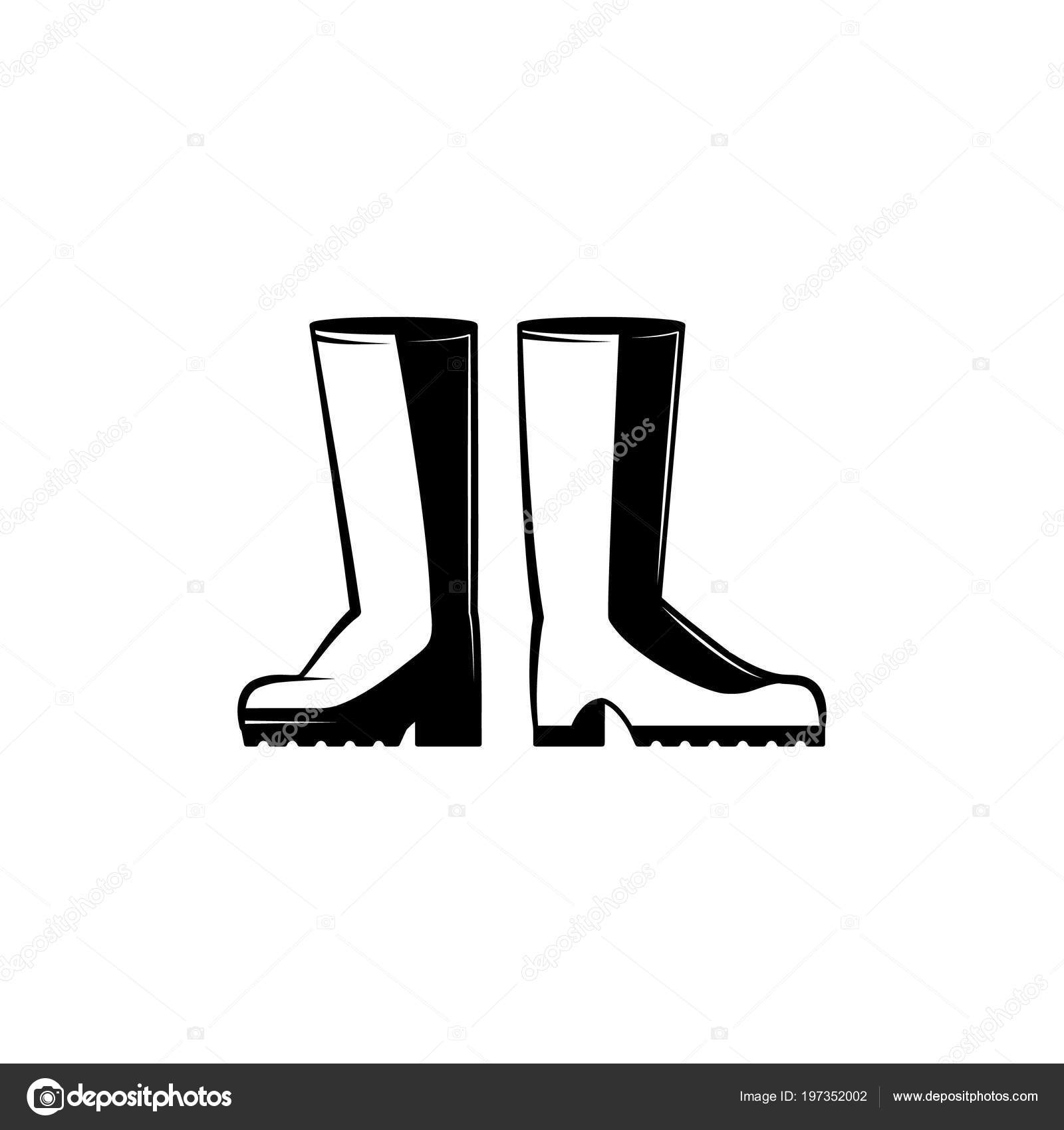 a0c023c60d6 Pair of rubber boots monochrome silhouette - protective farm shoes ...