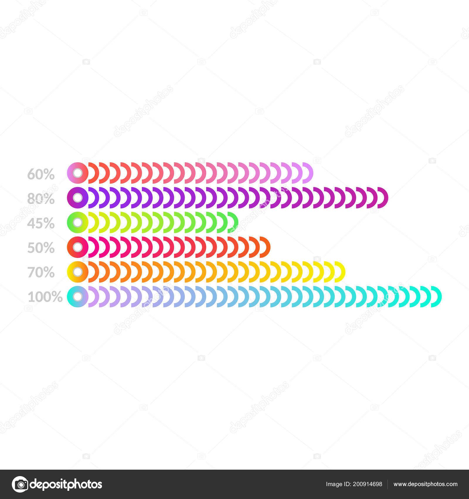 horizontal bar chart template - business flat design graph for