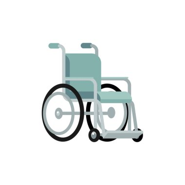 Wheelchair for disabled people mobility flat vector illustration isolated.