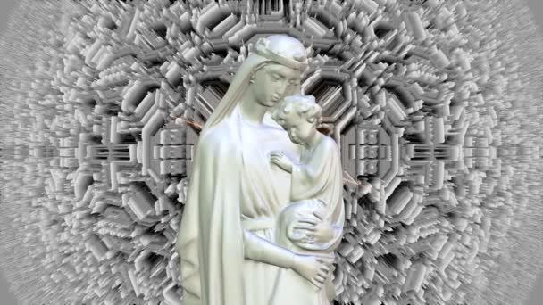 mary and jesus holy spirit light