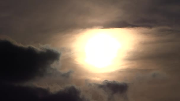 sun halo with dark clouds
