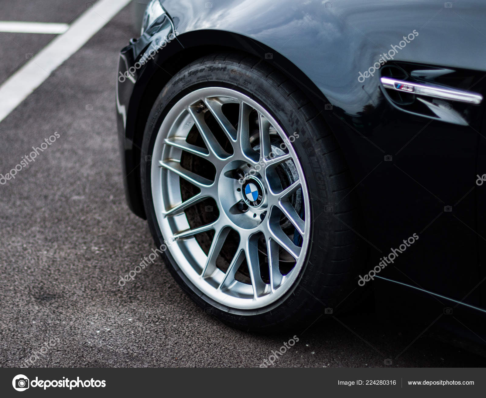 Front Wheel Modified Bmw E92 Sports Car Stock Editorial Photo C Tobyparsons 224280316