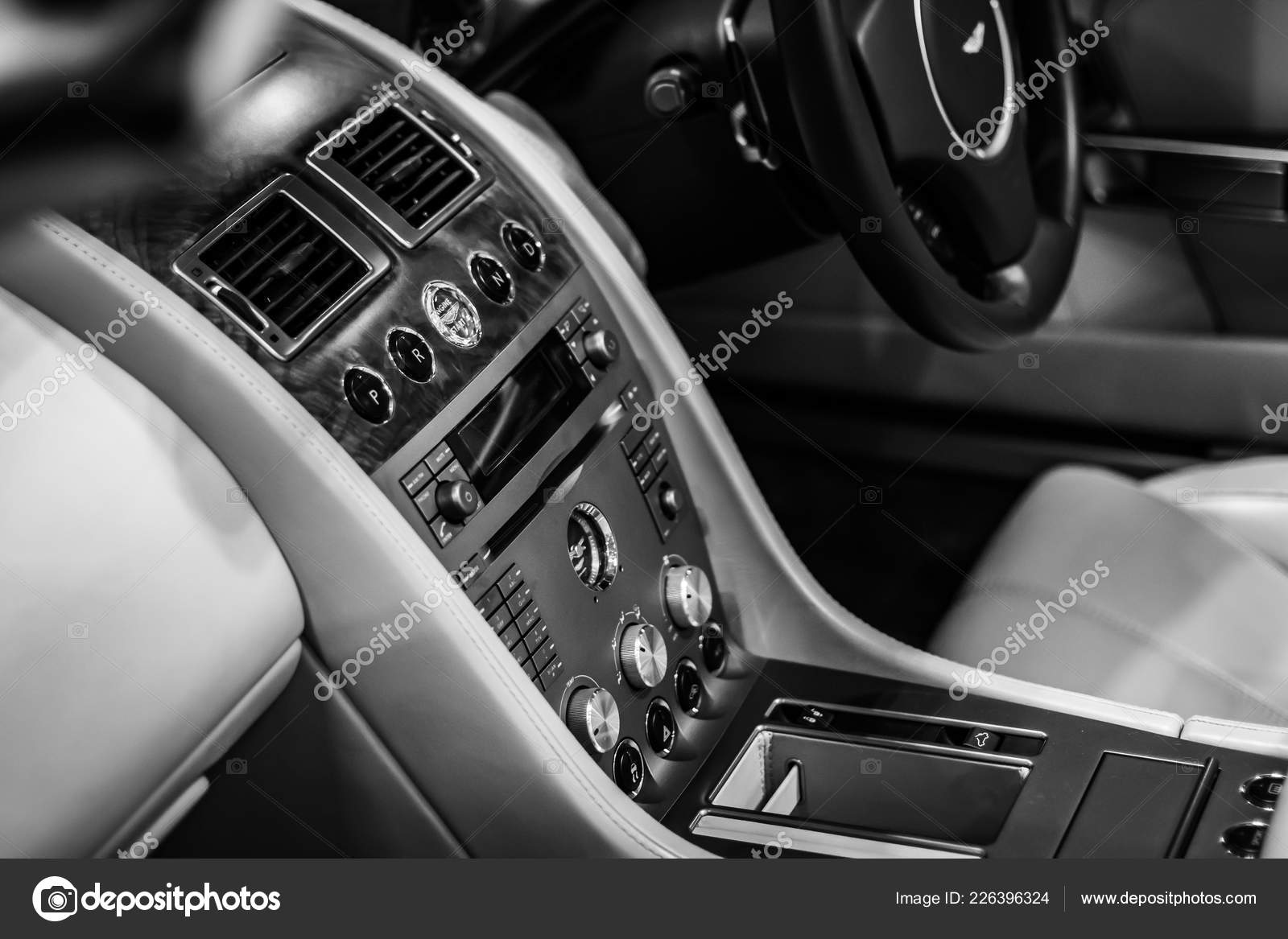 interior dashboard luxury aston martin db9 car – stock editorial