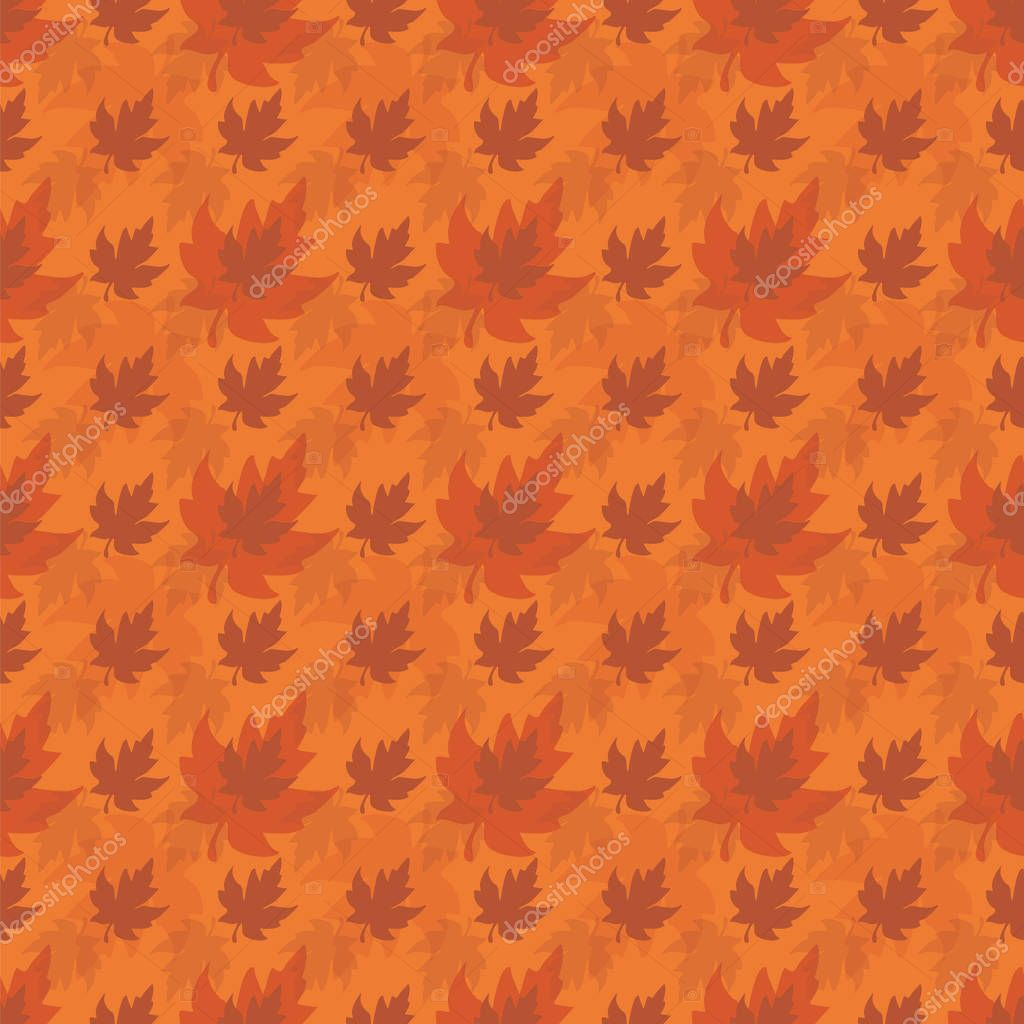Illustration Of Stylized Maple Leaves In Shades Of Orange Burnt Orange Peach Brick And Tan Seamless Pattern Vector Background For Gifts Posters Flyers Wallpaper Textile Fabric And Premium Vector In Adobe