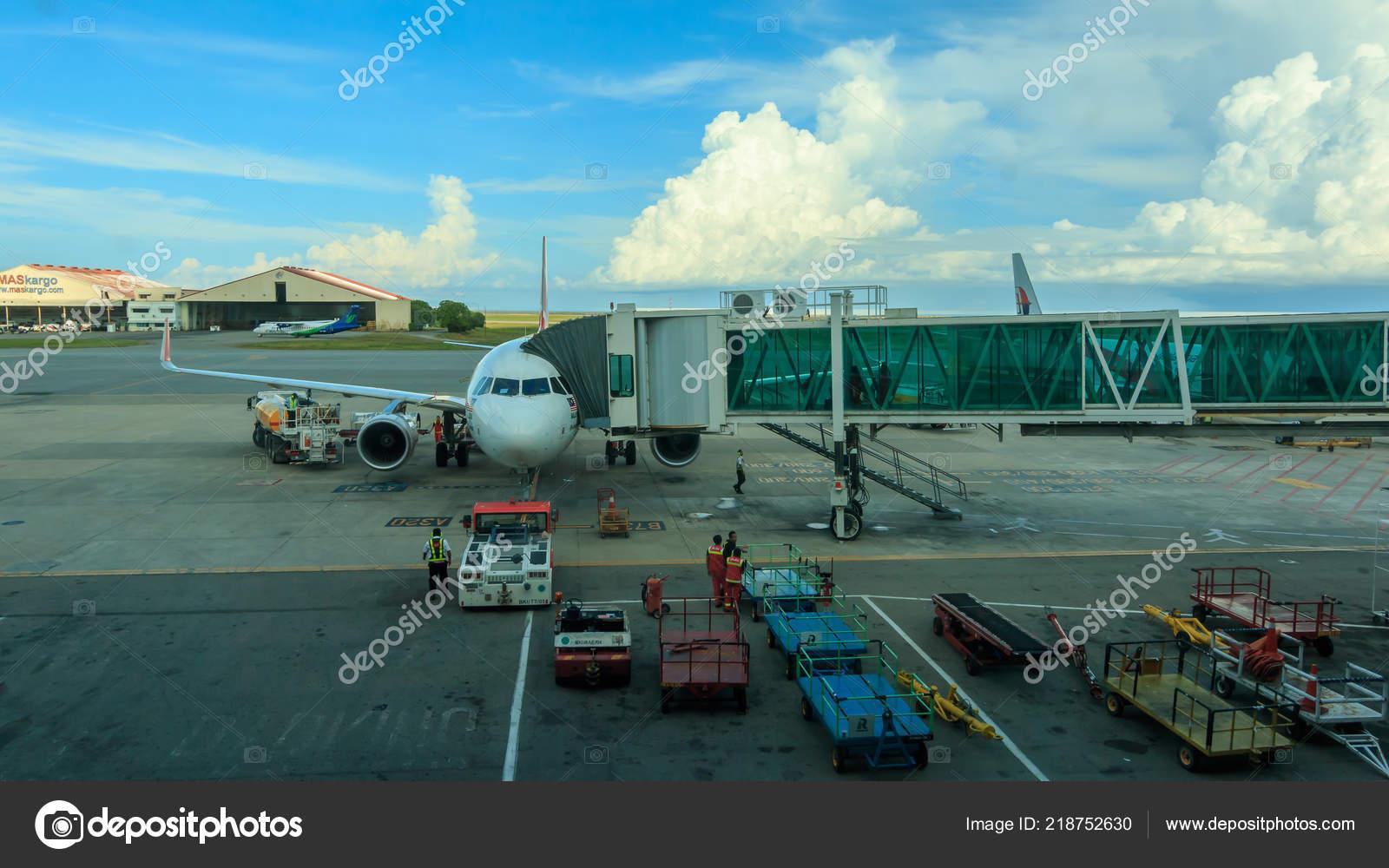 Kota Kinabalu Sabah Malaysia Dezember 2017 Ansicht Vom Flughafen Von