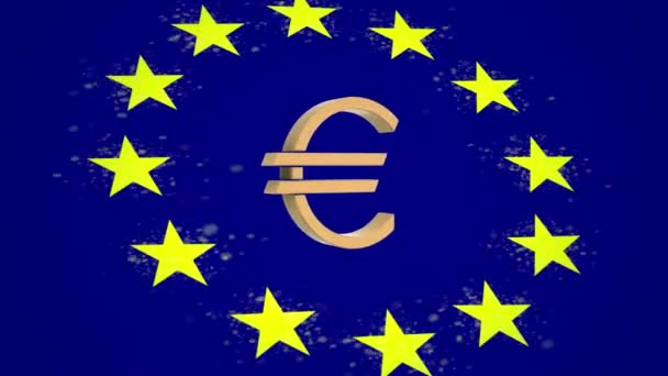 euro cent Europe background flag particle