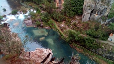 Montanejos, castellon, water pipes and thermal spring, mijares river (source the baths).
