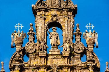 Front of the Cathedral of Santiago de Compostela in Spain
