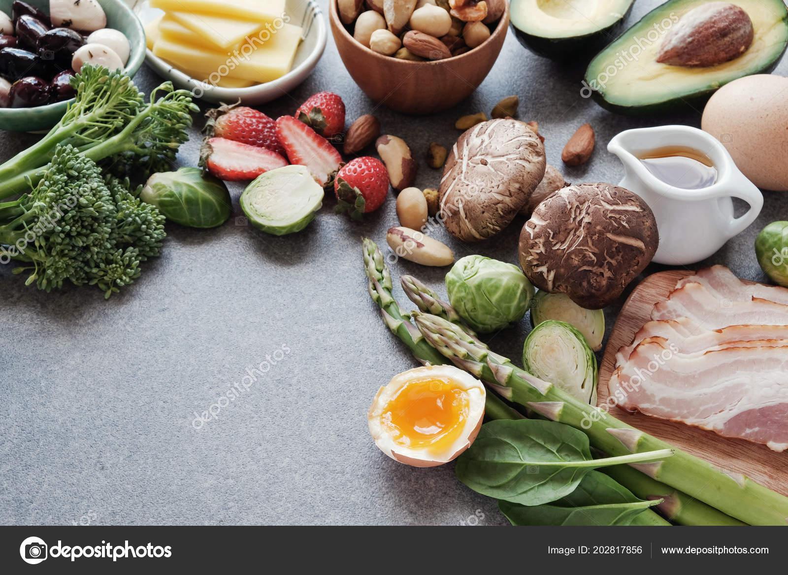 Zblizenie Zdrowe Jedzenie Dieta Ketogeniczna Niskie Carb Zdjecie