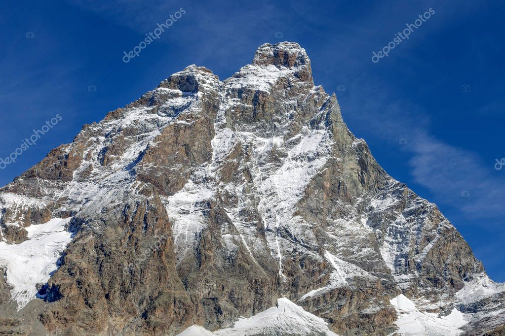 Close-up view of Cervino Mount (Matterhorn) , in Val D'Aosta,Italy.