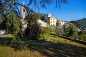 La secolare Chiesa (la Chiesa Millenaria) a Ruta, Provincia di Genova (GE), dedicata al Sacro cuore di Gesù