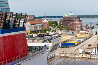 Kiel a harbor and city in Germany, view from a cruise ship