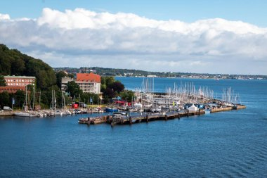 View at the city Kiel, the harbor and the coastline, a beautiful city in North Germany