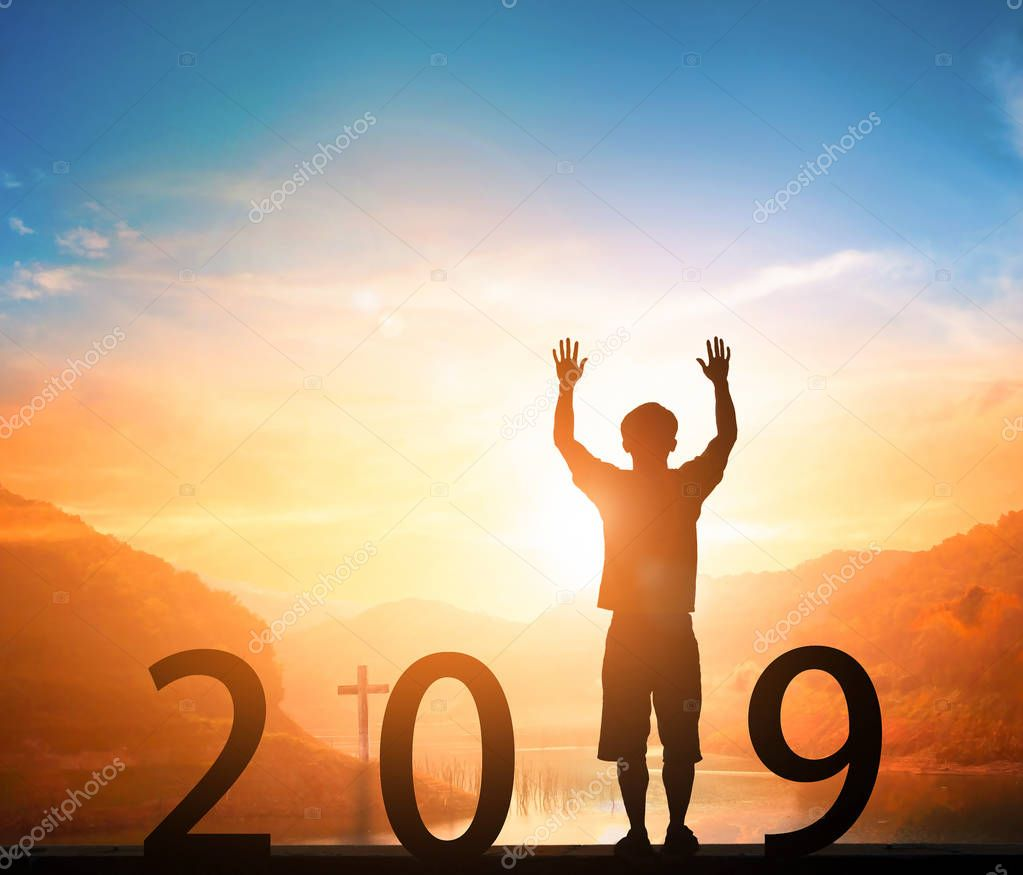 New Year concept: new goals, new directions, new hopes in 2019
