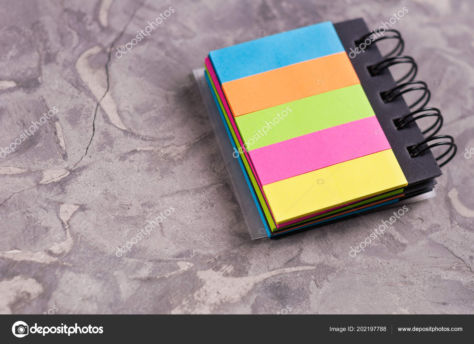 Notebook Spiral Blank Rectangle Colored Pages Old Concrete Gray