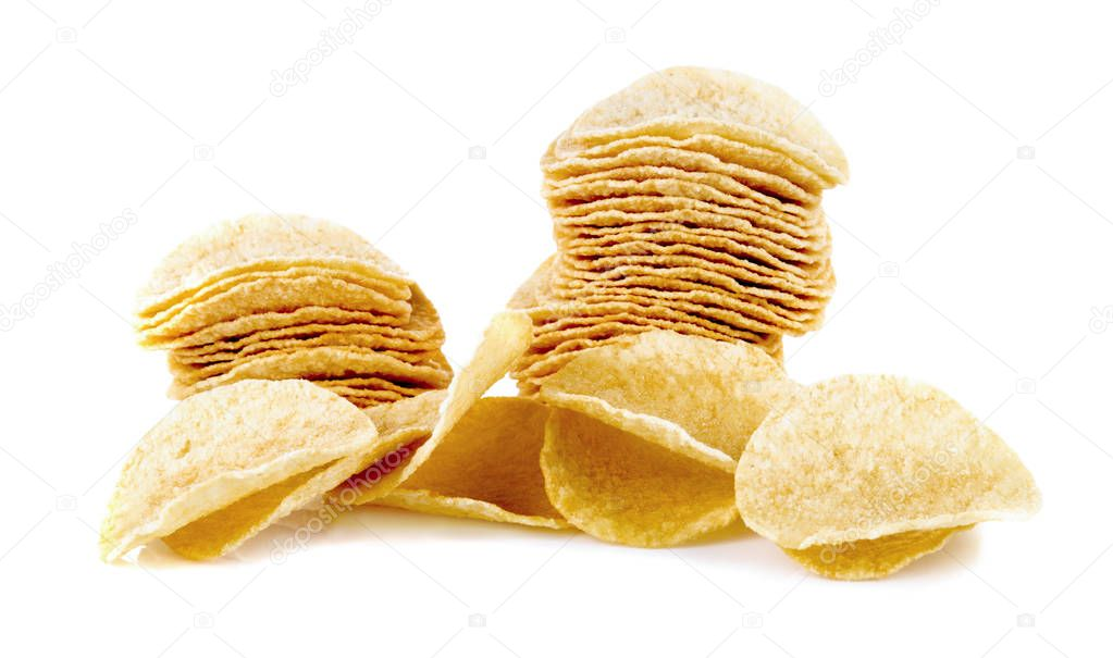 Potato chips Original on white background